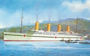 HMHS Britannic in Hospital Ship colors